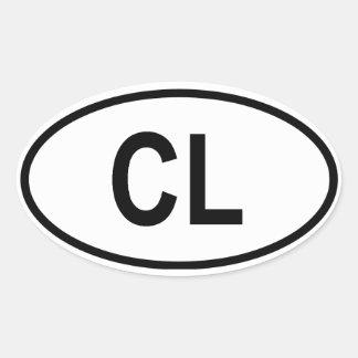 """Sri Lanka """"CL"""" Oval Sticker"""