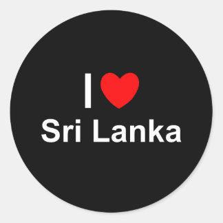 Sri Lanka Classic Round Sticker