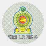 Sri Lanka Coat of Arms Round Stickers