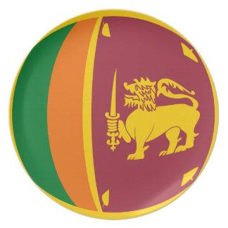 Sri Lanka Fisheye Flag Plate