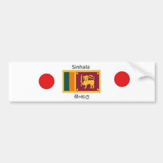 Sri Lanka Flag And Sinhala Language Design Bumper Sticker