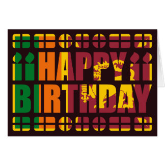 Sri Lanka Flag Birthday Card