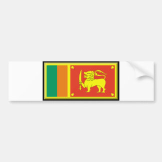 Sri Lanka Flag Bumper Sticker