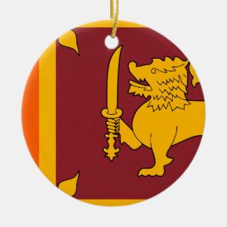 Sri Lanka Flag Ceramic Ornament