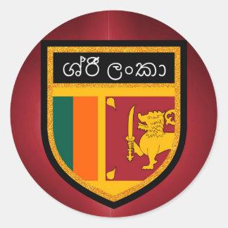 Sri Lanka Flag Classic Round Sticker