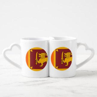 Sri Lanka Flag Coffee Mug Set