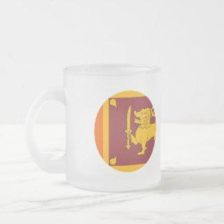 Sri Lanka Flag Frosted Glass Coffee Mug