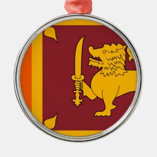 Sri Lanka Flag Metal Ornament