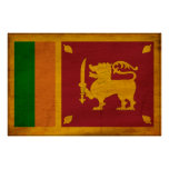 Sri Lanka Flag Print