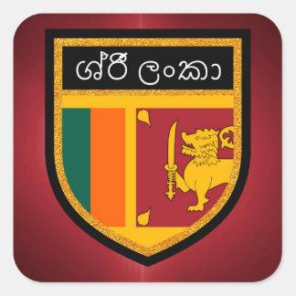 Sri Lanka Flag Square Sticker