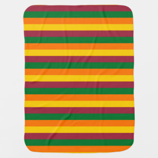 Sri Lanka flag stripes lines colors pattern Baby Blanket