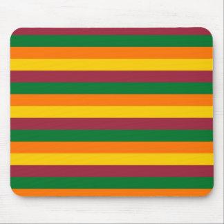 Sri Lanka flag stripes lines colors pattern Mouse Pad