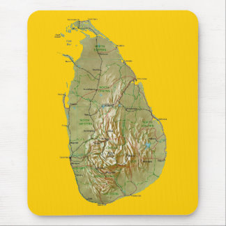 Sri Lanka Map Mousepad
