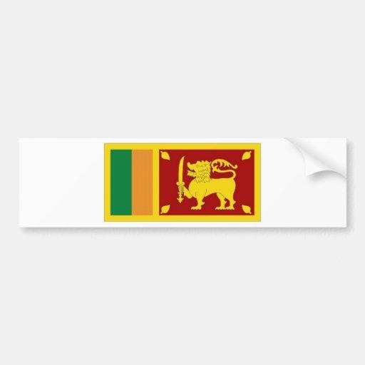 Sri Lanka National Flag Bumper Sticker