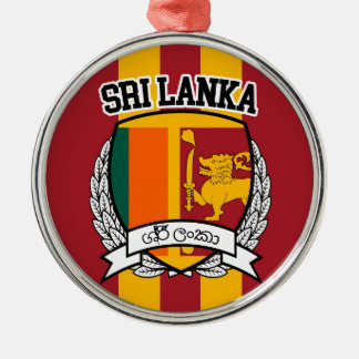 Sri Lanka Silver-Colored Round Decoration