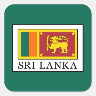 Sri Lanka Square Sticker