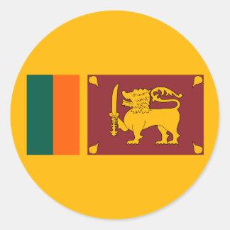Sri Lanka – Sri Lankan Flag Classic Round Sticker