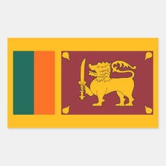 Sri Lanka – Sri Lankan Flag Rectangular Sticker