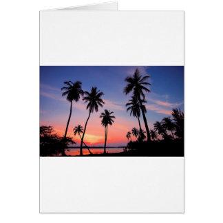 Sri Lanka Sunset Card