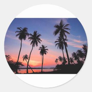 Sri Lanka Sunset Classic Round Sticker
