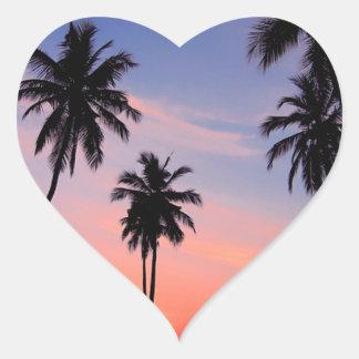 Sri Lanka Sunset Heart Sticker
