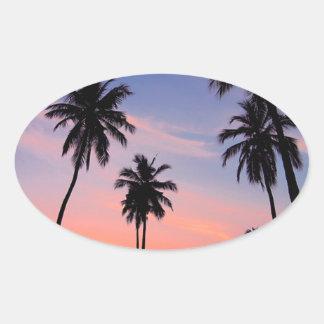 Sri Lanka Sunset Oval Sticker