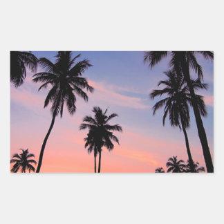 Sri Lanka Sunset Rectangular Sticker