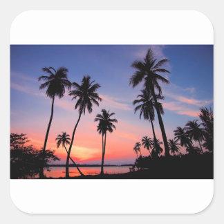 Sri Lanka Sunset Square Sticker