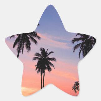 Sri Lanka Sunset Star Sticker