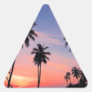 Sri Lanka Sunset Triangle Sticker
