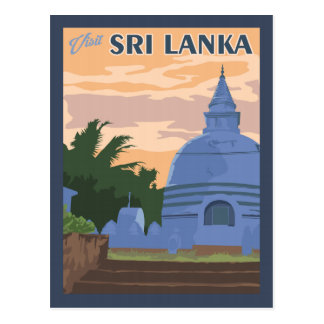 Sri Lanka - Vintage Travel Postcard