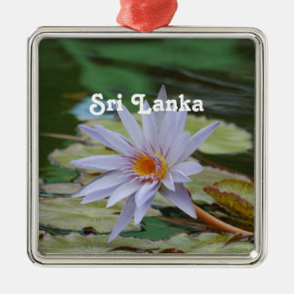 Sri Lanka Water Lily Metal Ornament