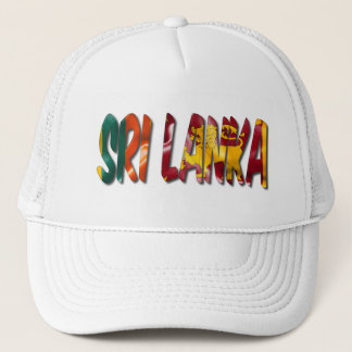 Sri Lanka Word With Flag Texture Trucker Hat