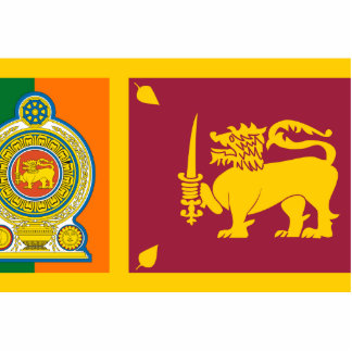 Sri Lankan Army, Sri Lanka flag Standing Photo Sculpture