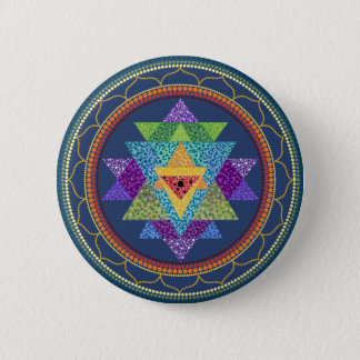 Sri Yantra 6 Cm Round Badge