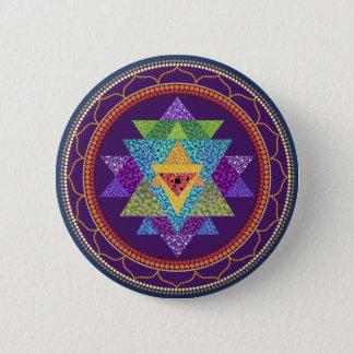 Sri Yantra 6 Cm Round Badge