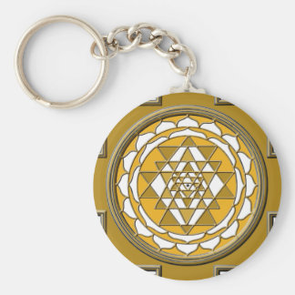 Sri Yantra Bronze Key Ring