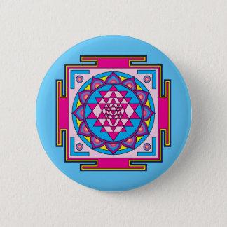 Sri Yantra Mandala 6 Cm Round Badge