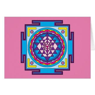 Sri Yantra Mandala Card