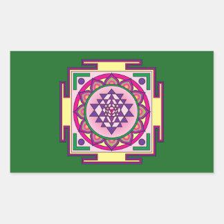 Sri Yantra Mandala Rectangular Sticker