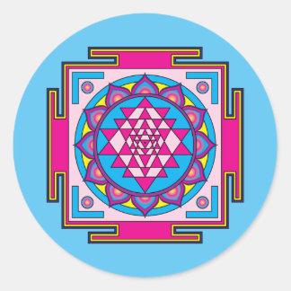Sri Yantra Mandala Round Sticker
