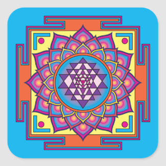 Sri Yantra Mandala Square Sticker