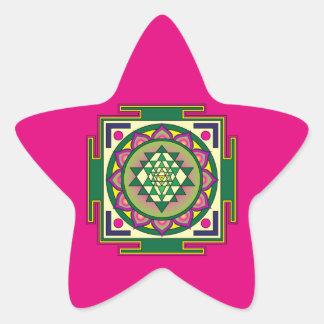 Sri Yantra Mandala Star Sticker