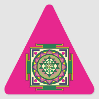 Sri Yantra Mandala Triangle Sticker