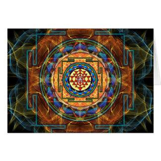 Sri Yantra - Sacred Geometry Card