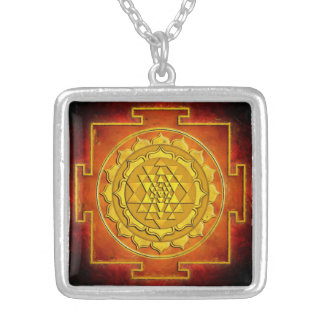 Sri Yantra warmth Silver Plated Necklace