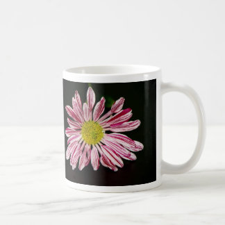 Sripped Daisy Coffee Mug