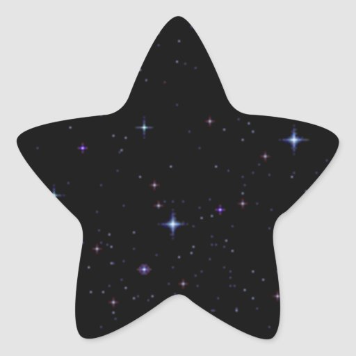 ss145 BLACK NIGHT STARS SKY SPACE BACKGROUNDS TEMP Star Stickers
