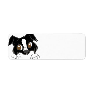 ss black and white cartoon peeking label