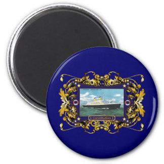 SS Constitution Vintage Ocean Liner 6 Cm Round Magnet